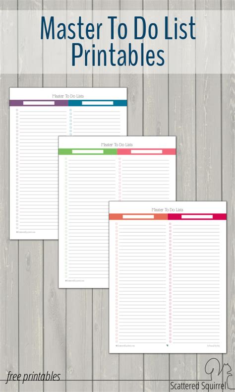printable calendar 2015 to do list master to do list printables scattered squirrel