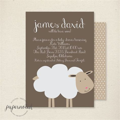 Sheep Baby Shower Invitations by Sheep Baby Shower Invitation Baby Shower Invitaiton
