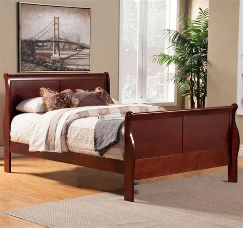 King Louis Bedroom Furniture by Louis Philippe Ii Cal King Sleigh Bed Modern Bedroom