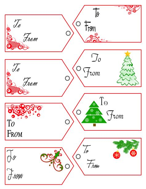 Printable Christmas Gift Tags Word | gift tag templates free 3d textures