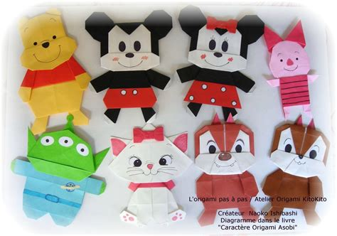 Mickey Mouse Origami - mickey mouse friends l origami pas 224 pas atelier