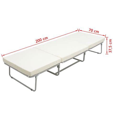 matratze 70 x 200 vidaxl klappbett sofa mit matratze 200x70 stahl g 252 nstig