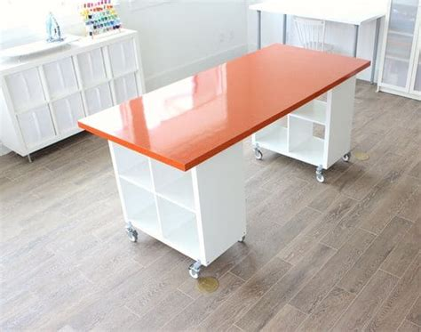 Craft Desk Diy Craft Room Desk Diy Easy Project