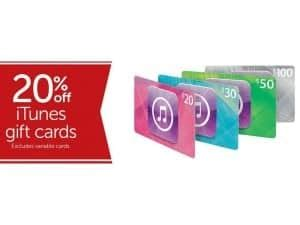 Who Has Itunes Gift Cards On Sale - expired 20 off itunes gift cards at target gift cards on sale