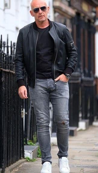 wear   leather jacket  tips  men
