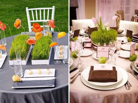 28 table centerpieces in different styles