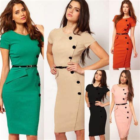 Dress Sepandress Bodycondress Formaldress Wanita best quality new fashion ol office dress clothes knee length bodycon slim pencil