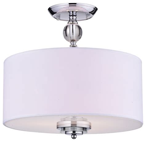 Flush Ceiling Chandeliers by Bridget Drum Chandelier Chrome And White