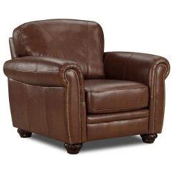 buying a brown leather armchair