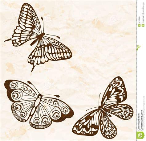 imagenes para perfil vintage fondo del vintage papel arrugado viejo con las mariposas