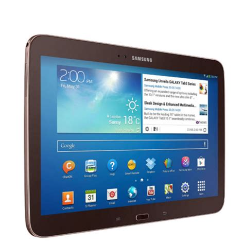 Samsung Tab 3 10 Inch Second samsung galaxy tab 3 wifi 10 1 inch tablet 16 gb golden brown computing zavvi