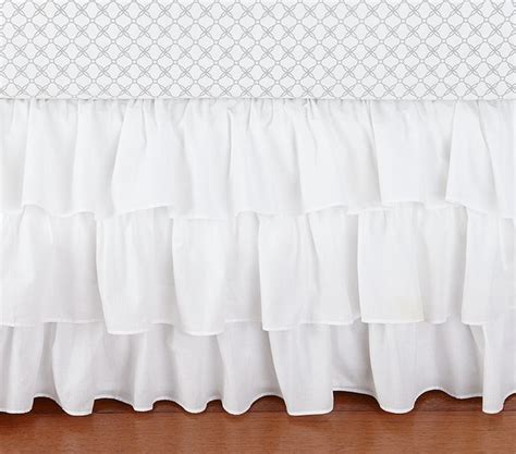 Crib Ruffle Skirt ruffle crib skirt baby bedding other metro by