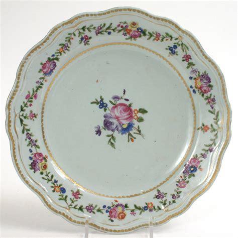 Porcelain Plate pair export qianlong porcelain plates 18th c for