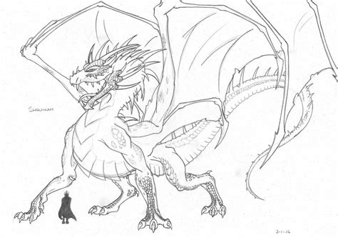 Eragon Coloring Pages saphira from the eragon free coloring pages