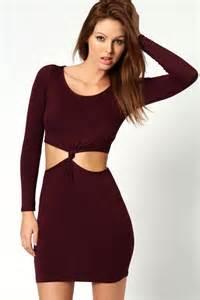boohoo clothing boohoo womens wow sleeve knot dress bwd1 ebay