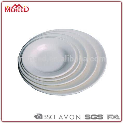 Mangkuk Melamin Food Grade dishwasher safe food grade melamine porcelain dinner plate in white color buy dinner