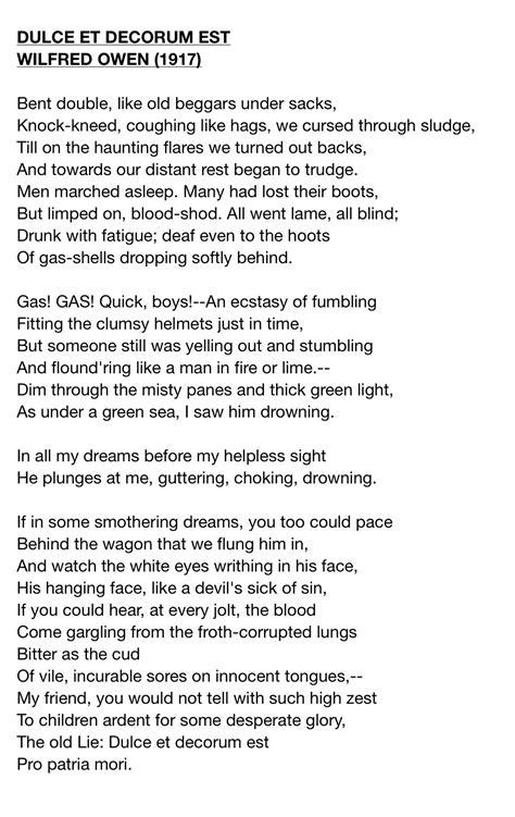 Wilfred Owen Dulce Et Decorum Est Essay by Dulce Et Decorum Est By Wilfred Owen Moulding Minds Dulce Et Decorum Est