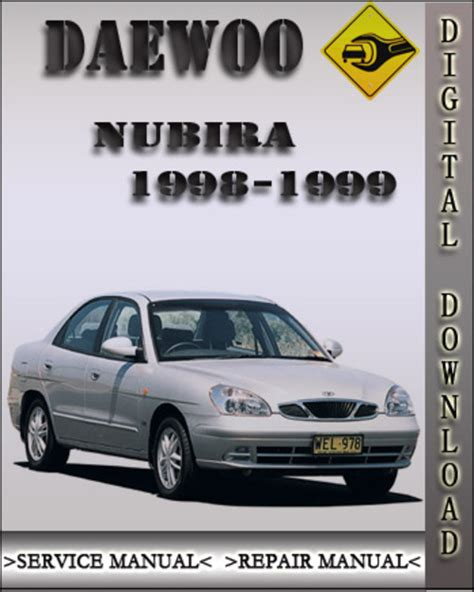 Daewoo Nubira Manual 1998 1999 Daewoo Nubira Factory Service Repair Manual