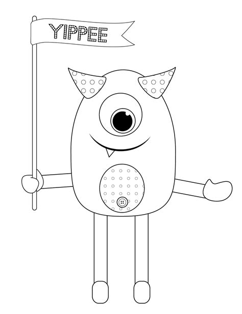 monster coloring pages free printable cute monster coloring page coloring home