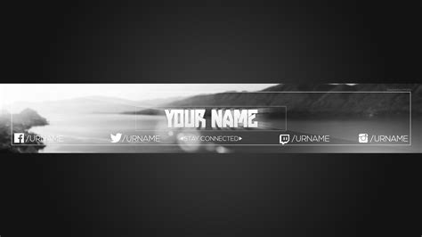 youtube banner template photoshop okl mindsprout co