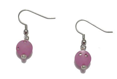 swarovski len leuchten ohrringe mit rosa polarisperlen mit swarovski steinen