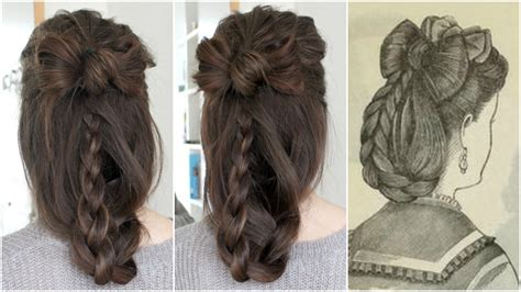 how to cut hair in 1870 1870s hair bow historical hairstyling loepsie