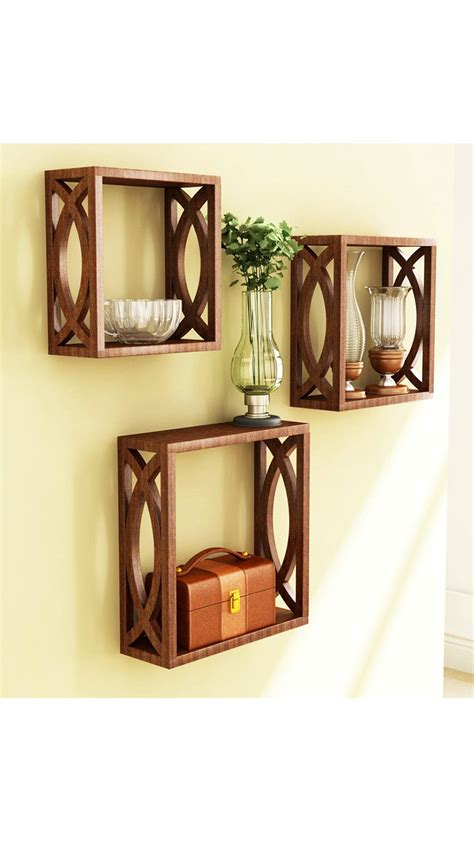 buy home decor items online india buy home store brown wooden wall shelf of wall decor
