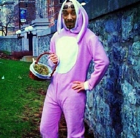 Happy Easter Snoop Dogg Style by Photo Of Snoop Dogg Wearing Easter Bunny Costume Is A