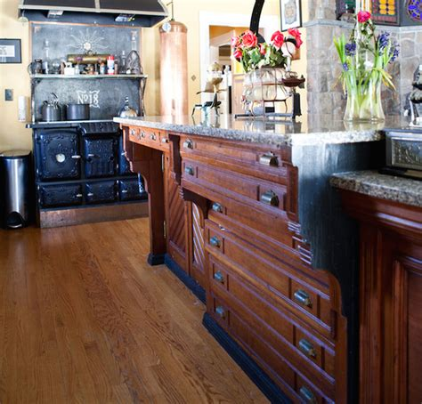 repurpose old kitchen cabinets repurposed reclaimed nontraditional kitchen island