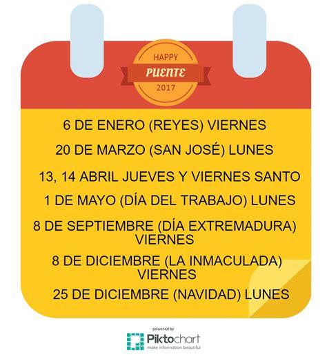 Calendario 2017 Puentes 2017 El Calendario Festivo Perfecto Eneltintero Blogs
