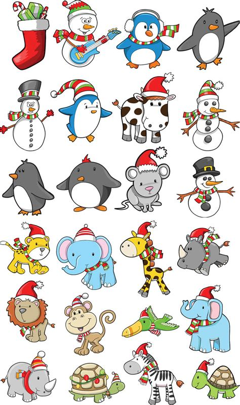 christmas animals animated animals vector graphics page 4