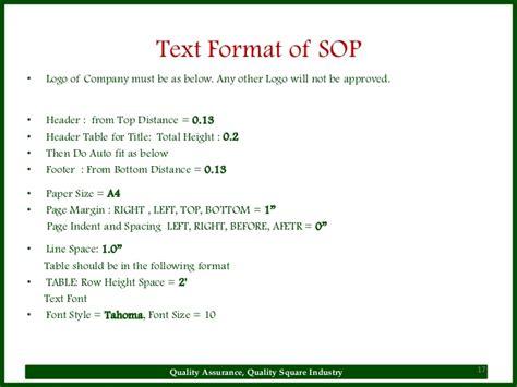 format cd text sop