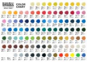 spray paint color chart new liquitex spray paint color chart