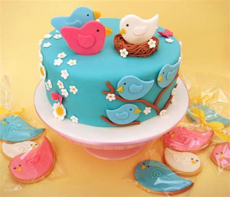 bird baby shower cake butter hearts sugar nesting birds baby shower cake and