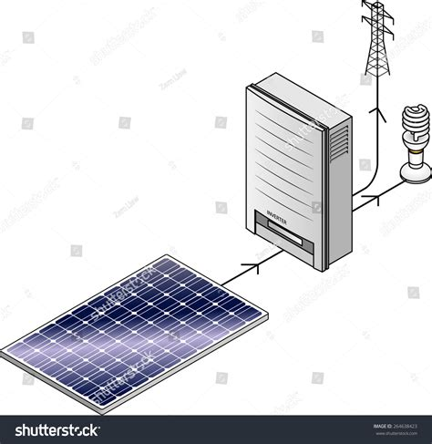 setup diagram a domestic household solar power kit with