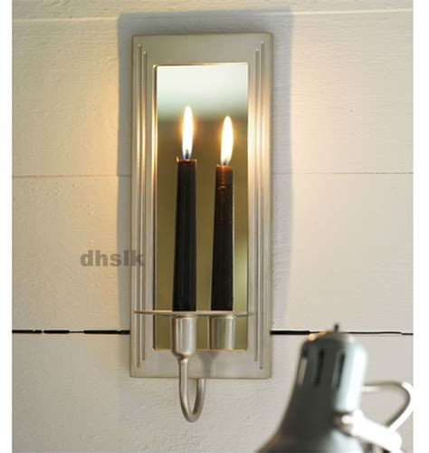 Mirrored Candle Wall Sconces ikea gemenskap wall sconce candle holder silver color