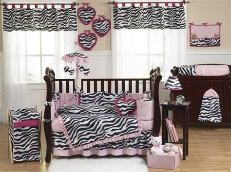 Black And Pink Crib Bedding Sets Pink Black White Funky Zebra Baby Bedding Animal Print Baby Bedding By Jojo Only 69 99