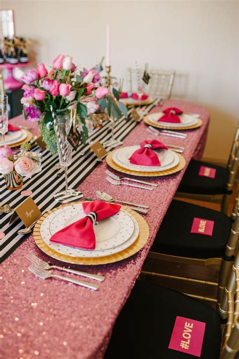 bridal shower dinner table a chic and swanky kate spade inspired dinner party new
