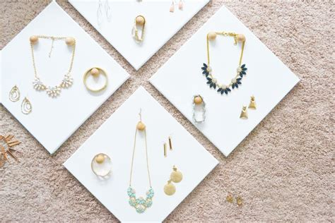 how to make jewelry displays diy jewelry display canvases