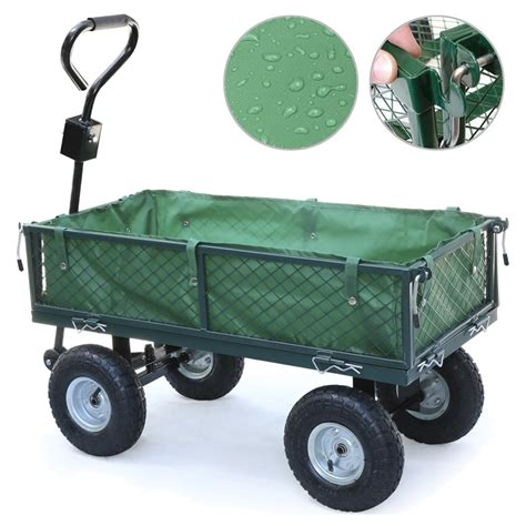 Small Garden Cart by Small Scale 200kg Metal Garden Outdoor Utility Cart With Interior Cove S2h8 Ebay