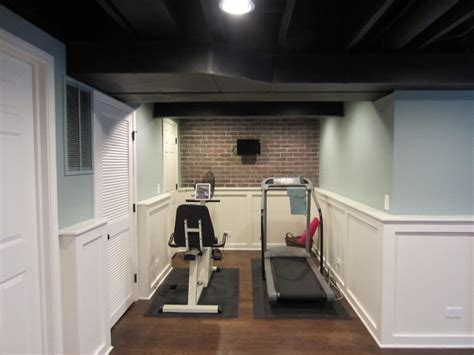 tiny house with basement our basement traditional home gym chicago