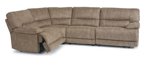 power reclining sectional sofa flexsteel latitudes delia power reclining sectional sofa