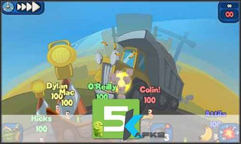 worm version apk worms 2 armageddon v1 4 0 apk updated version free 5kapks get your apk free of cost