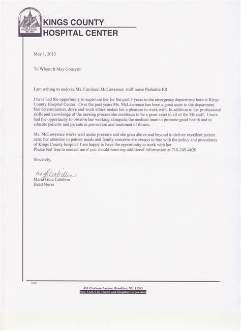 Sample Personal Statement For Resume by Letters Of Reference Carolann Mclawrence S Eportfolio