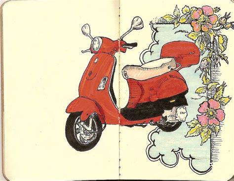 doodle vespa 1000 images about motos vespa on vintage