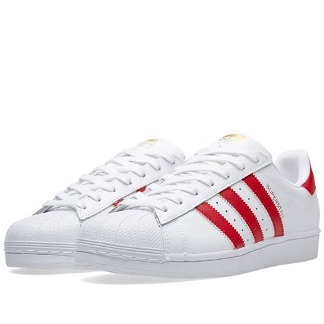 Adidas White Superstar adidas superstar foundation white scarlet the sole supplier
