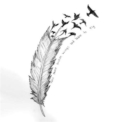 tattoo feather into birds meaning best feather turning into birds tattoo design