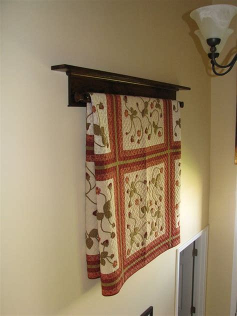 Wall Hanging Quilt Rack by Wall Hanging Quilt Rack And Shelf By Doug Wilson