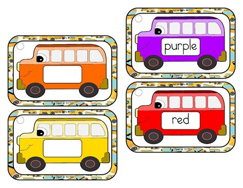 printable bus tags kindergarten kindergarten archives the schoolhouse