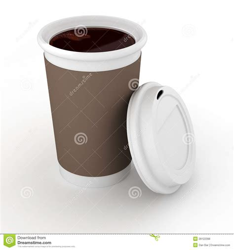How To Make A Paper Coffee Cup - 3d coffee paper cup stock illustration image of away